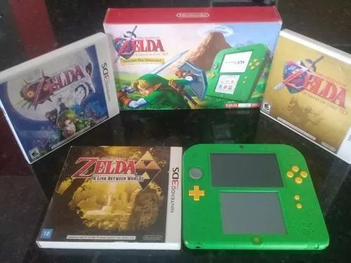 Nintendo 2ds zelda bundle edition com 3 jogos da série