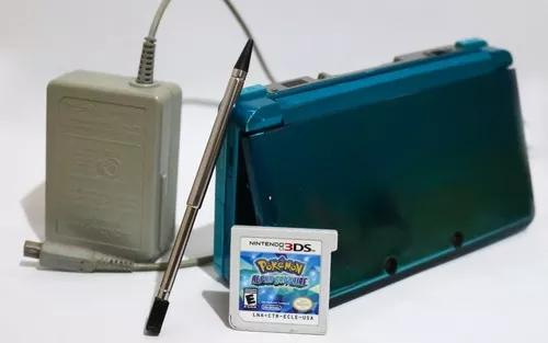 Nintendo 3ds aqua blue + pokémon alpha sapphire