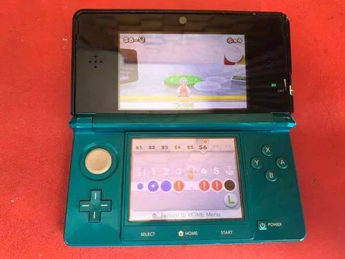 Nintendo 3ds azul com jogo