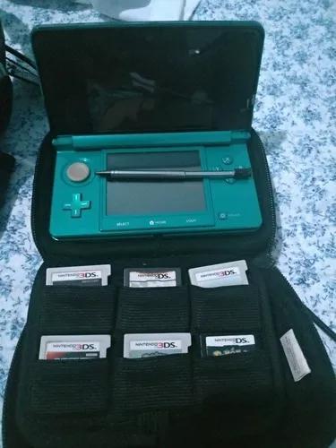 Nintendo 3ds + capa protetora + jogos