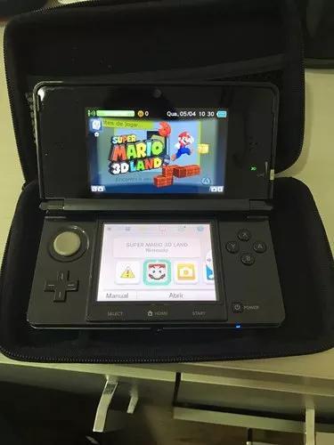 Nintendo 3ds + case + game mario 3d land's