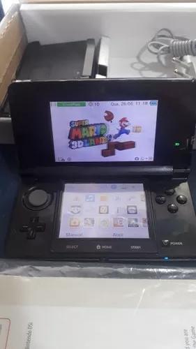 Nintendo 3ds com super mario 3d land original e cartão 4 gb