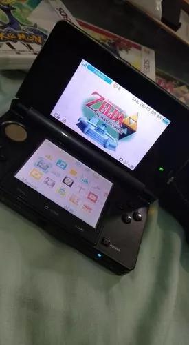 Nintendo 3ds cosmo black + 4 jogos