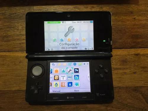 Nintendo 3ds desbloqueado + cartão 16gb na caixa