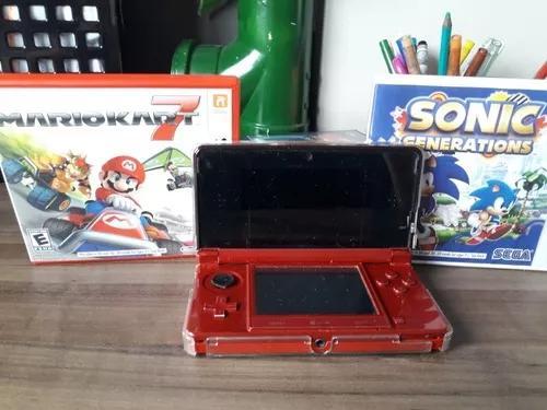 Nintendo 3ds + dois jogos, otimo estado