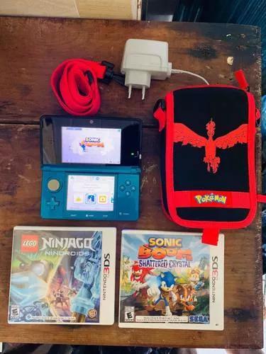 Nintendo 3ds + jogos + bolsa da nintendo original