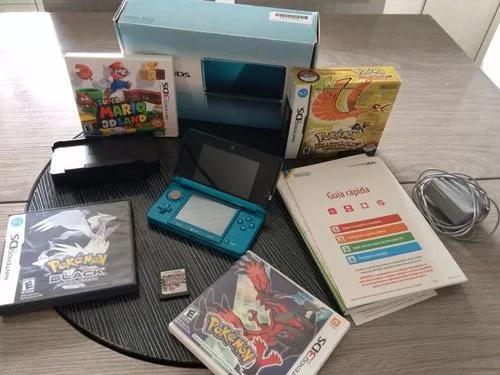 Nintendo 3ds na caixa + 4 jogos pok