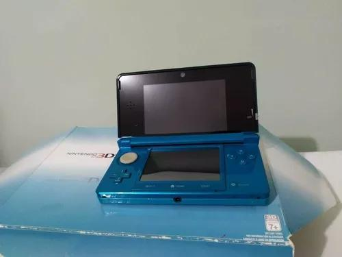 Nintendo 3ds original aqua blue com luma e varios jogos
