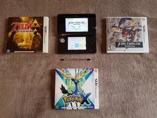 Nintendo 3ds preto + 3 jogos
