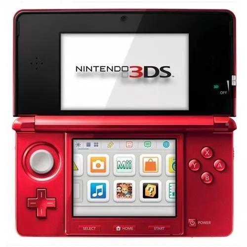 Nintendo 3ds vermelho + jogo de brinde