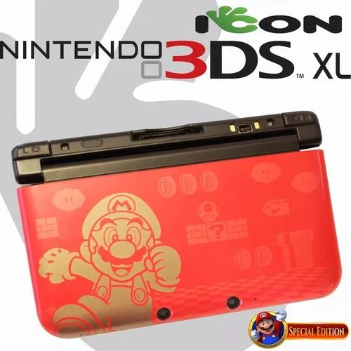 Nintendo 3ds xl 3 ds vermelho new super mario bros.2 edition