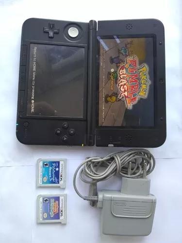 Nintendo 3ds xl 32gb com carregador mais 3 jogos s