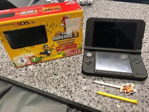 Nintendo 3ds xl 4gb eu- edição mario bros 2 + 6 jogos +