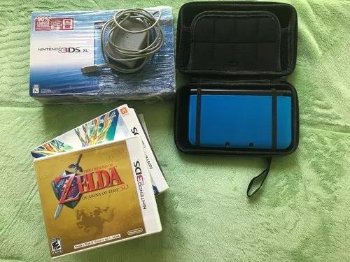 Nintendo 3ds xl azul com 7 jogos físicos - original