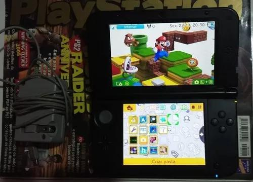Nintendo 3ds xl azul desbloqueado jogando online