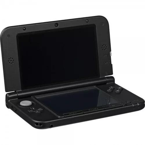 Nintendo 3ds xl black + case + 3 jogos