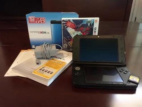 Nintendo 3ds xl blue/black + pok