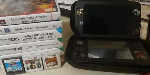 Nintendo 3ds xl + case + 9 jogoss