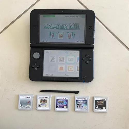 Nintendo 3ds xl cor azul usado
