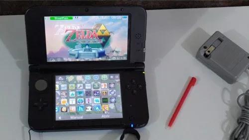 Nintendo 3ds xl desbloqueado + muitos jogos 3d + brinde