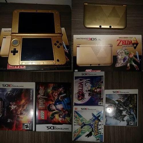 Nintendo 3ds xl edição especial dourada