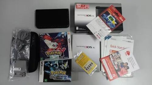 Nintendo 3ds xl preto + 2 jogos