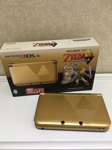 Nintendo 3ds xl zelda edition + 6 jogos originais + r4