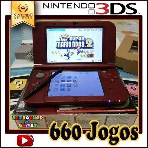 Nintendo new 3ds xl - 660 jogos
