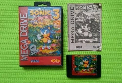 Sonic 3 completo tectoy para mega drive