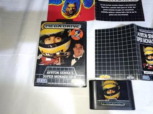 Super monago gp 2 original ayrton senna's mega drive caixa