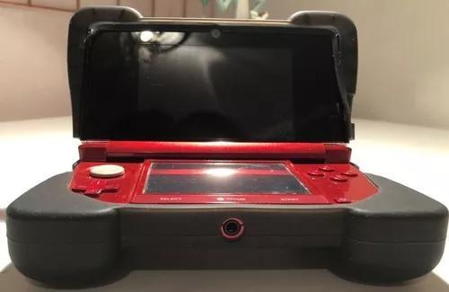 Super Nintendo 3ds Verm Completo+capa Proteção Dreamgear