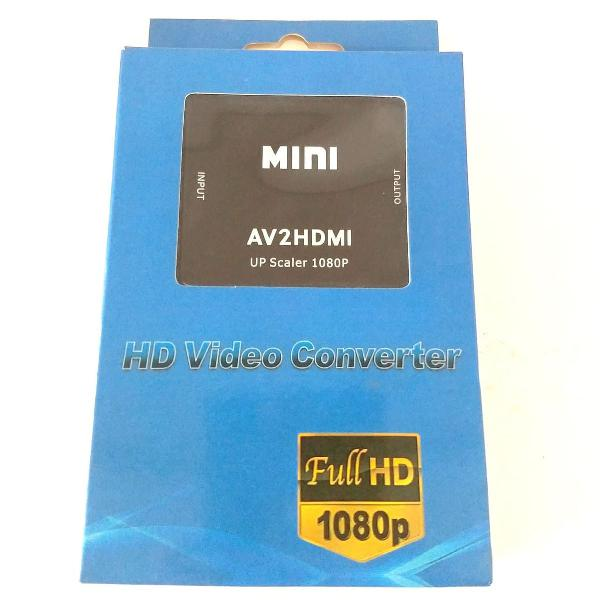 Adaptador conversor de av rca para hdmi - av2hdmi