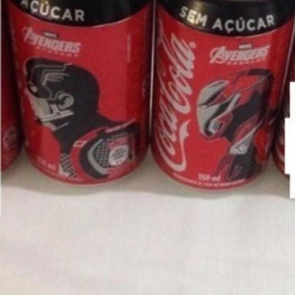 Coca cola 2 latas vingadores capitão américa iron man