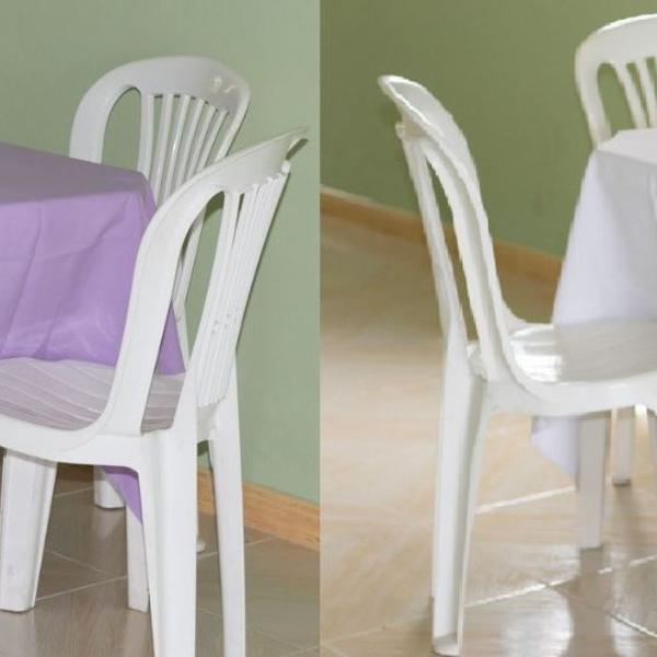 Kit 2 toalhas de mesa oxford lilas e branca 1,40x1,40 cm