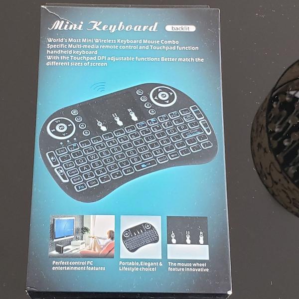 Mini keyboard teclado wireless controle remoto