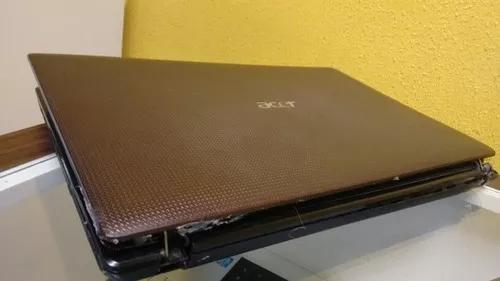 Notebook acer i3 aspire no estado caiu no chão s