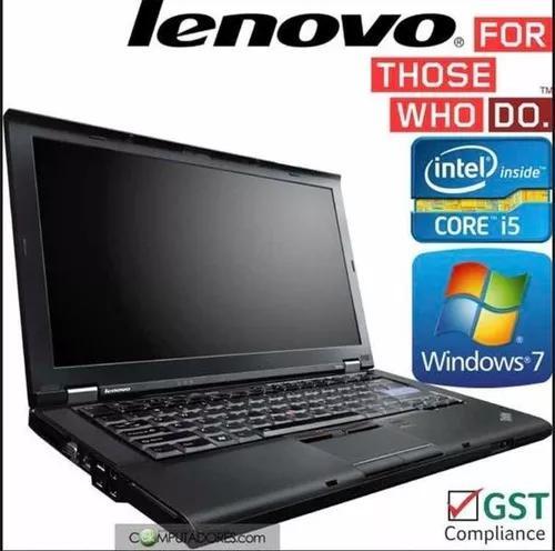 Notebook lenovo thinkpad i5 4gb 240gb win 7 pro