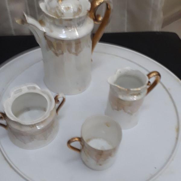 Conjunto para chá ou café e leite, tete a tete