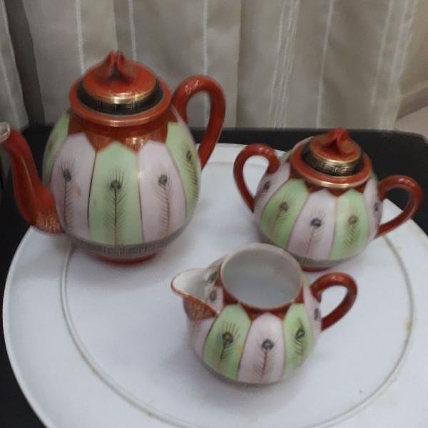 Conjunto para chá ou café e leite casca de ovo japonês