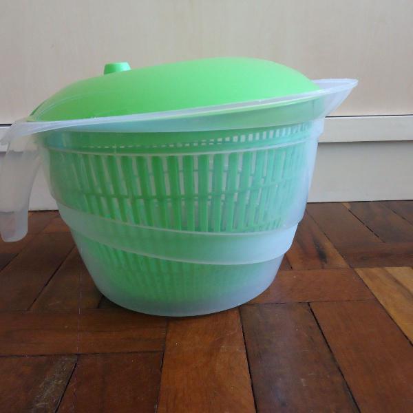 Lava e seca saladas elite branco grande usado