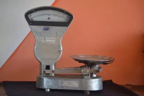 Balança antiga original vicris filizola máx 6kg c/ prato