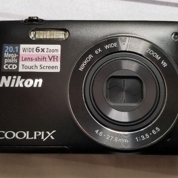 Câmera digital nikon coolpix s4400 preta
