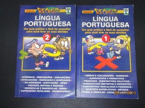 Coleção série manual recreio língua portuguesa 2 livros