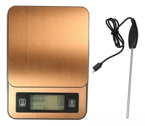 Escala eletrônica de café feita à mão cronometrada com