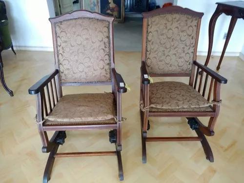 Par de cadeira de balanço antiga antiquario breshopping