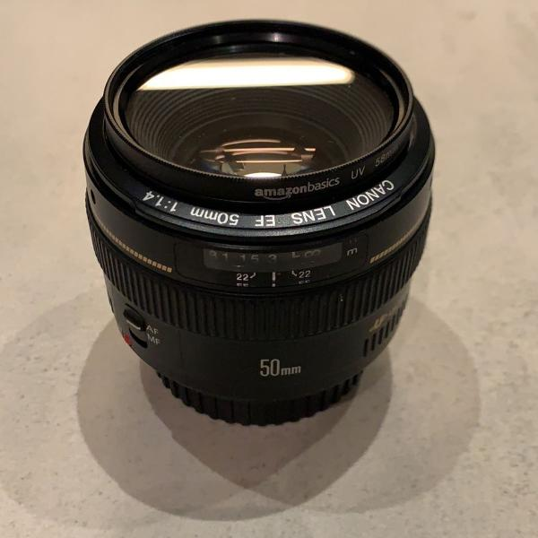Canon lente ef 50mm f/1.4 usm