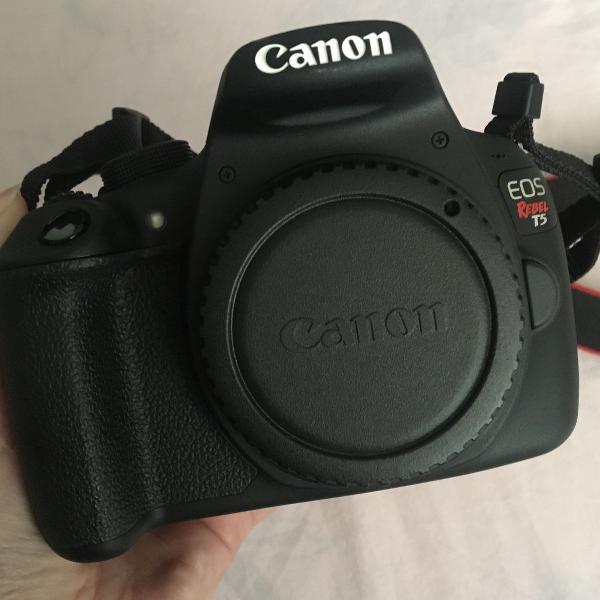 Câmera dslr canon t5 novíssima