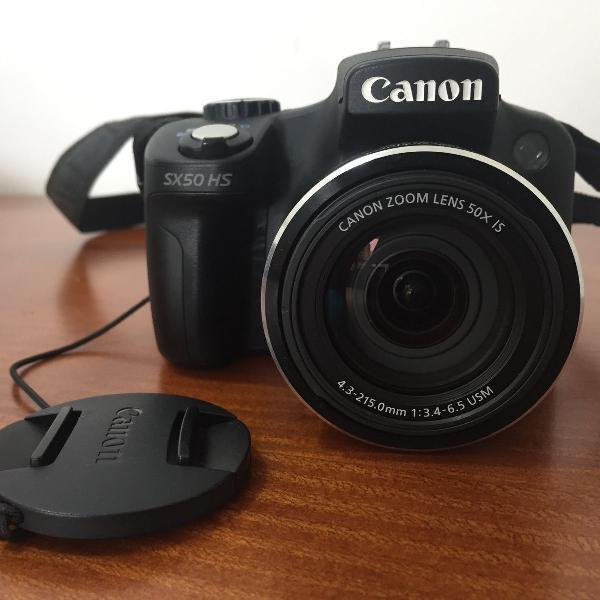 Câmera semi profissional canon powershot sx50 hs 12.1 mp