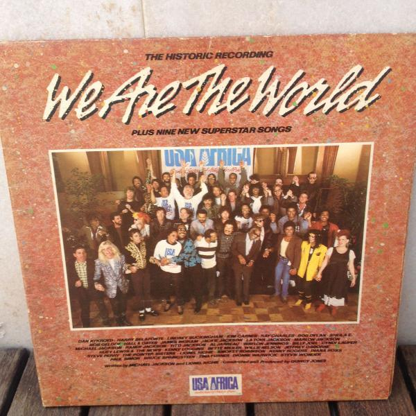 Disco vinil we are the world - usa for africa usado