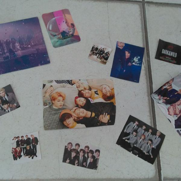 Fotos e cards bts